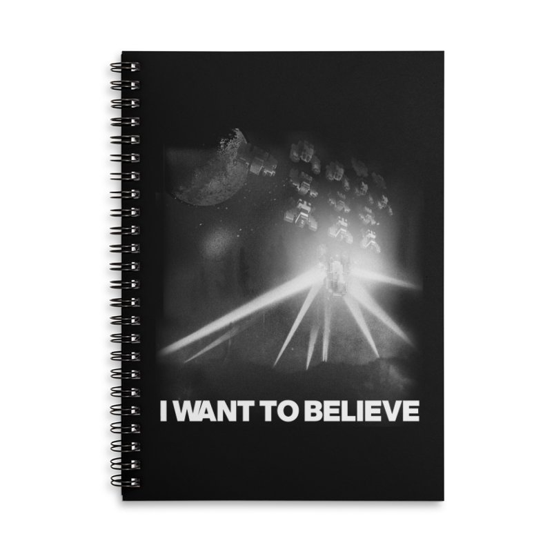 Invasion Accessories Lined Spiral Notebook by EctoplasmShow's Artist Shop