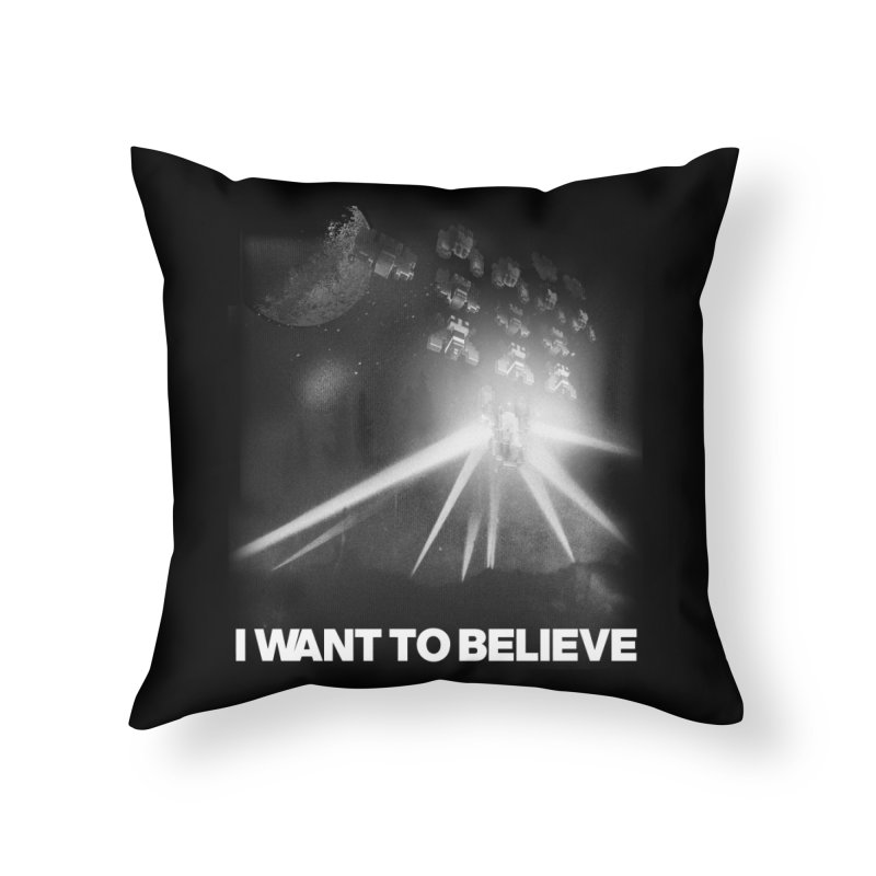 Invasion Home Throw Pillow by EctoplasmShow's Artist Shop