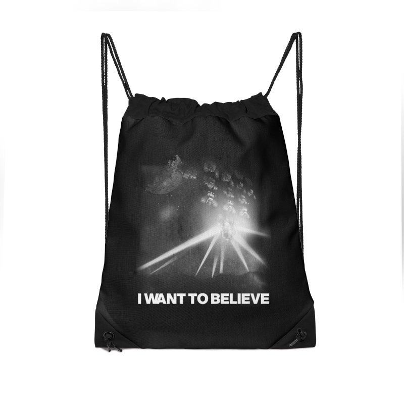 Invasion Accessories Drawstring Bag Bag by EctoplasmShow's Artist Shop