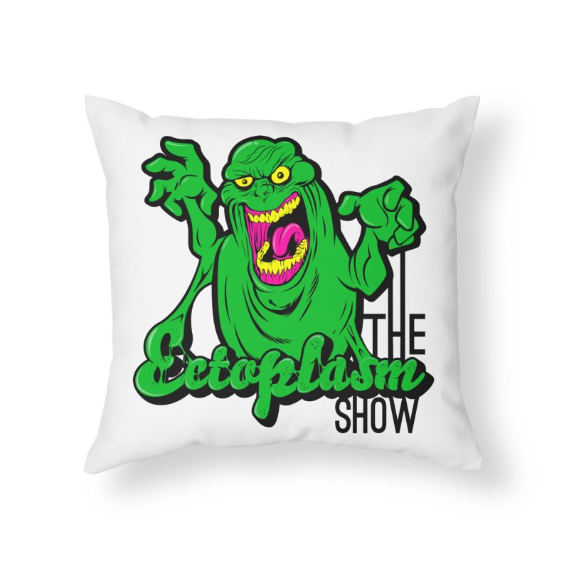 Classic Logo Home Throw Pillow by EctoplasmShow's Artist Shop