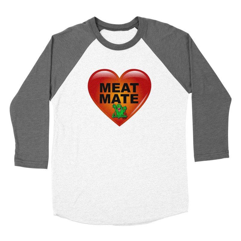Meat Mate Men's Baseball Triblend Longsleeve T-Shirt by EctoplasmShow's Artist Shop