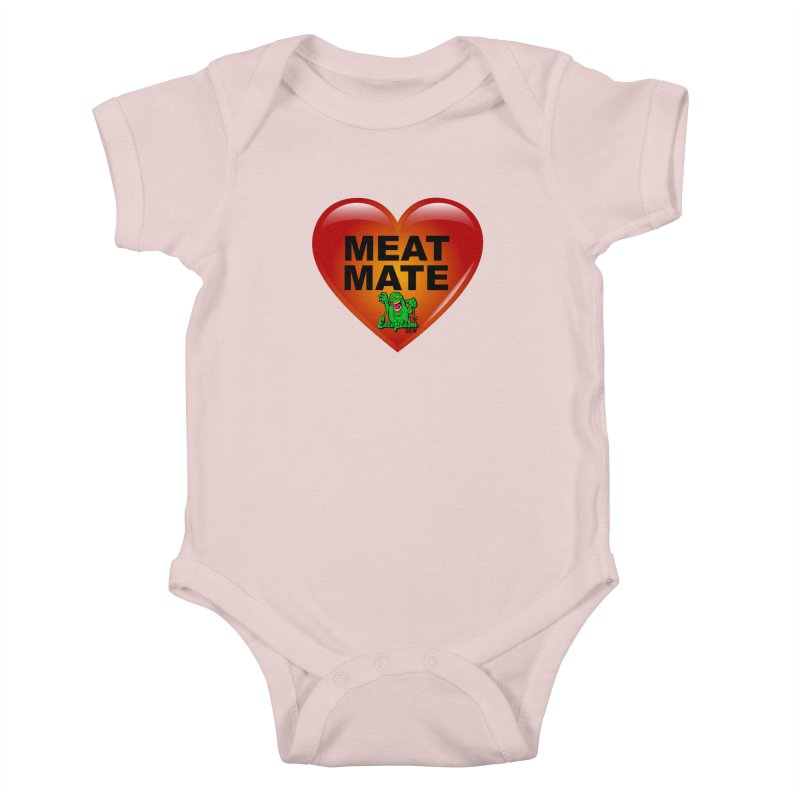 Meat Mate Kids Baby Bodysuit by EctoplasmShow's Artist Shop