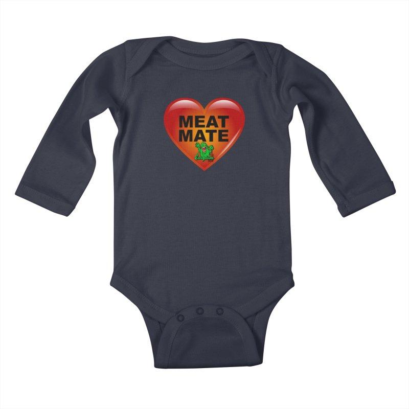 Meat Mate Kids Baby Longsleeve Bodysuit by EctoplasmShow's Artist Shop