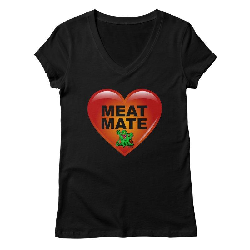 Meat Mate Women's V-Neck by EctoplasmShow's Artist Shop