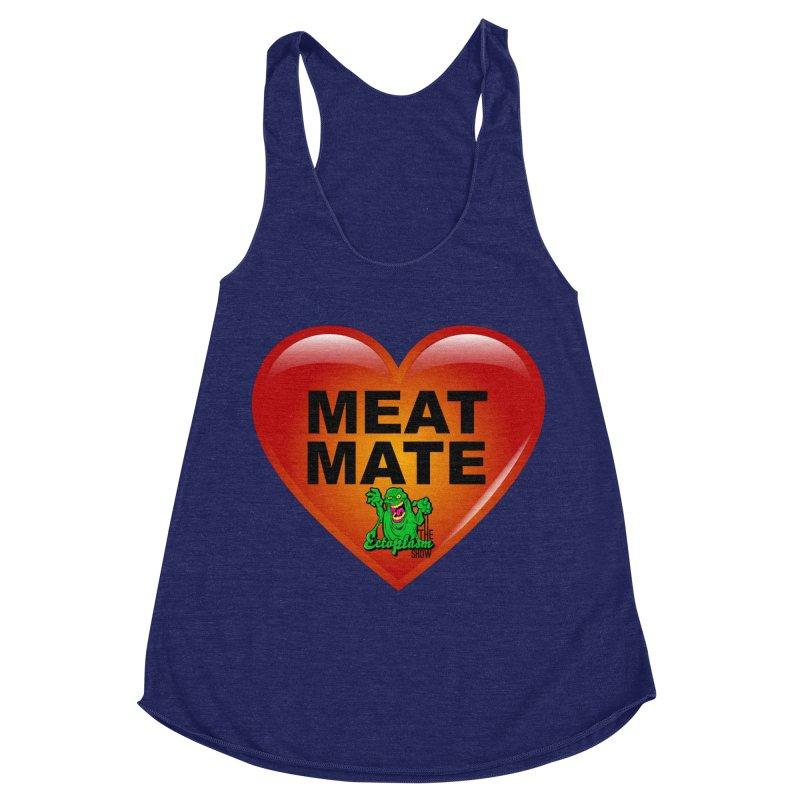 Meat Mate Women's Racerback Triblend Tank by EctoplasmShow's Artist Shop