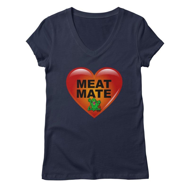 Meat Mate Women's Regular V-Neck by EctoplasmShow's Artist Shop