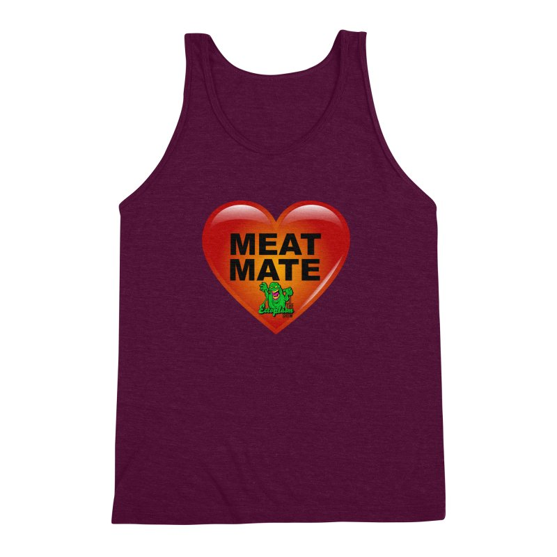 Meat Mate Men's Triblend Tank by EctoplasmShow's Artist Shop