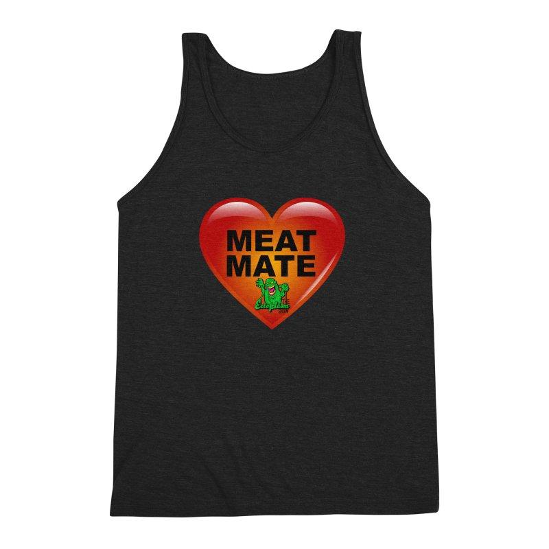 Meat Mate Men's Triblend Tank by EctoplasmShow's Artist Shop