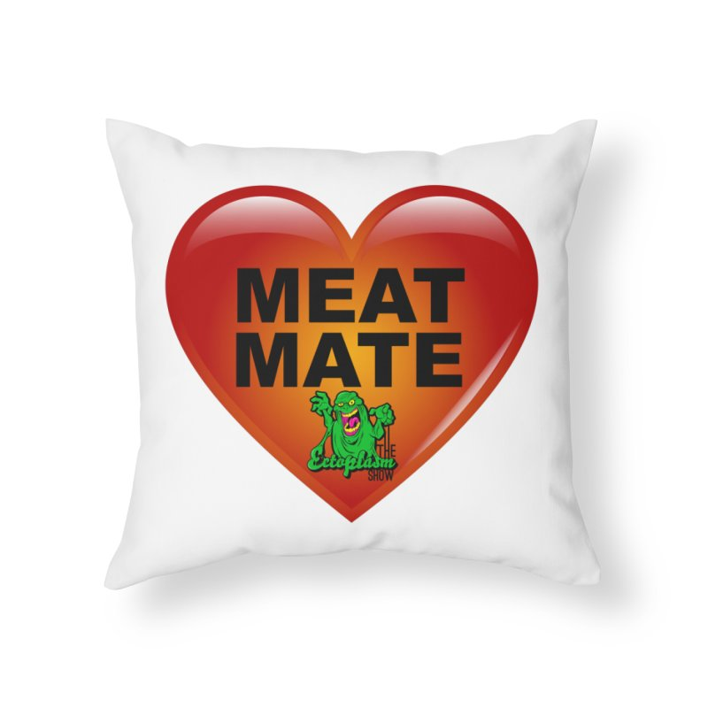 Meat Mate Home Throw Pillow by EctoplasmShow's Artist Shop