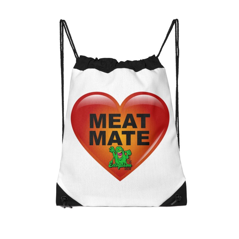 Meat Mate Accessories Drawstring Bag Bag by EctoplasmShow's Artist Shop