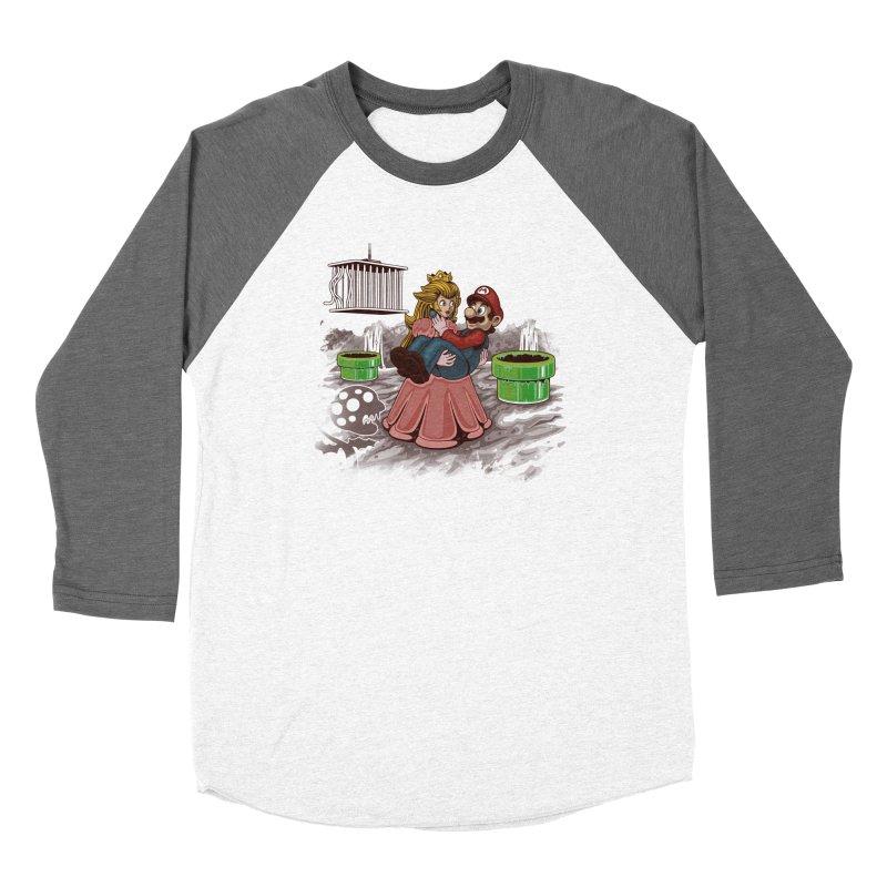 Peach! Mario Needs Your Help! Women's Longsleeve T-Shirt by Arashi-Yuka