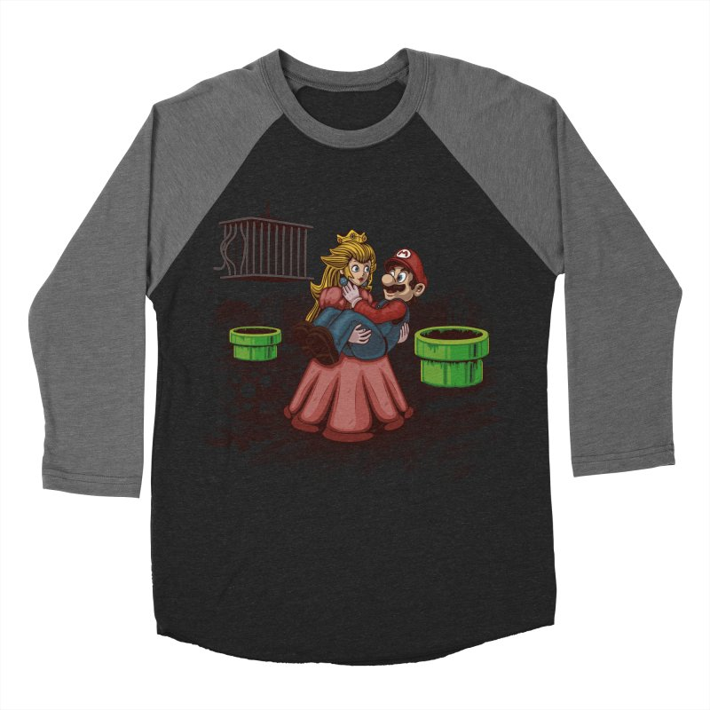 Peach! Mario Needs Your Help! Women's Baseball Triblend Longsleeve T-Shirt by Arashi-Yuka