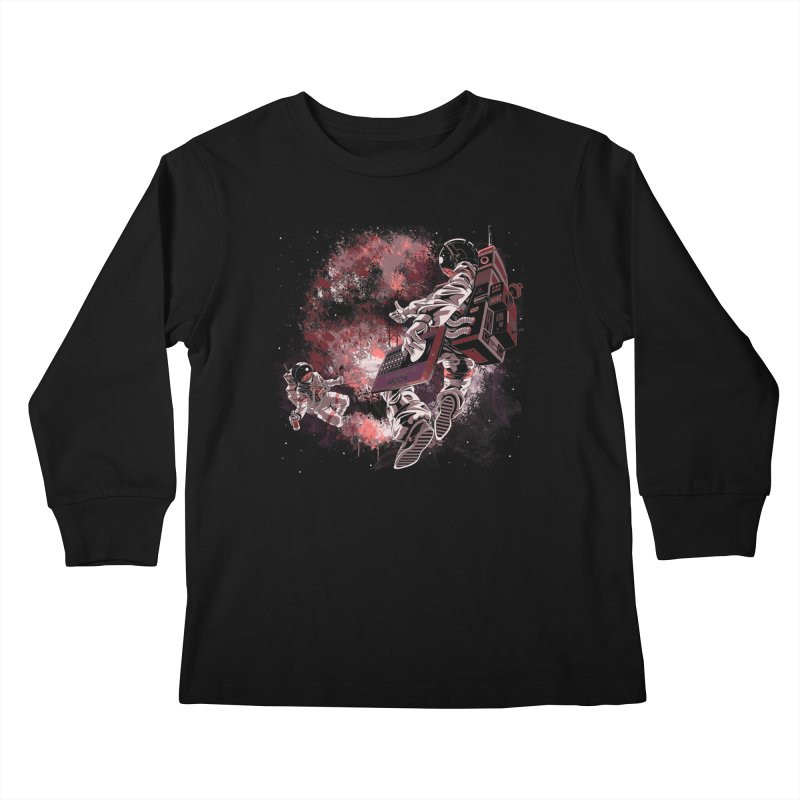 Phases Of The Moon Kids Longsleeve T-Shirt by Arashi-Yuka