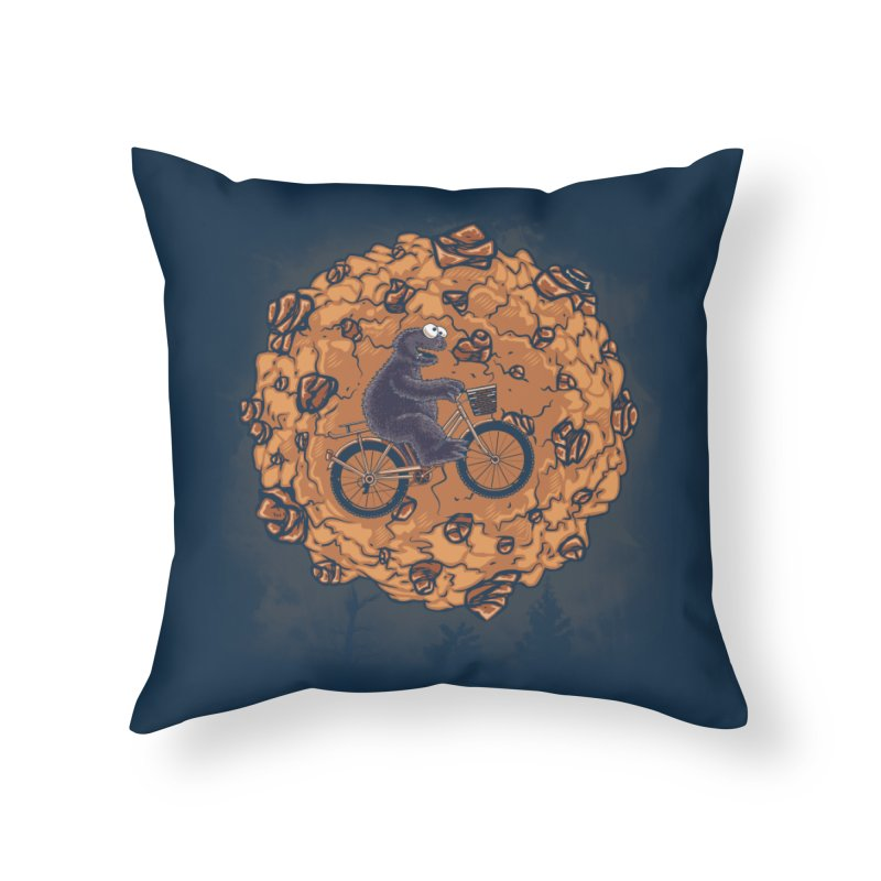 Your Moon, My Cook Home Throw Pillow by Arashi-Yuka