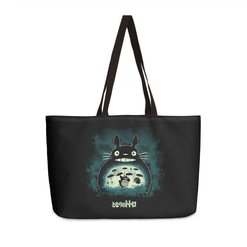 Totoro And His Umbrellas Accessories Weekender Bag Bag by Arashi-Yuka