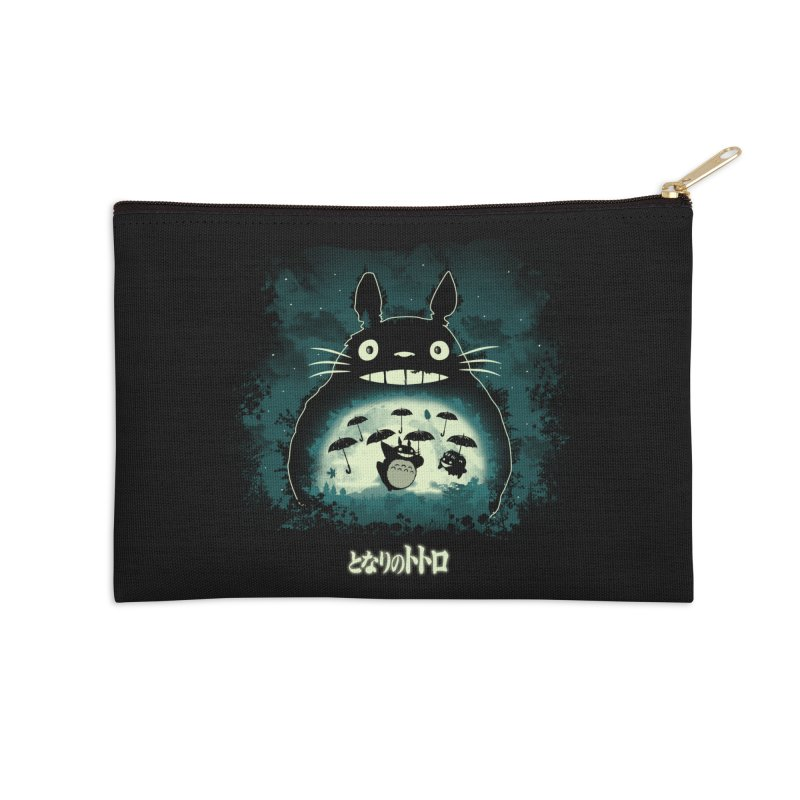 Totoro And His Umbrellas Accessories Zip Pouch by Arashi-Yuka