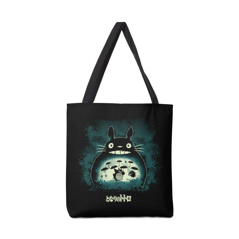 Totoro And His Umbrellas Accessories Tote Bag Bag by Arashi-Yuka