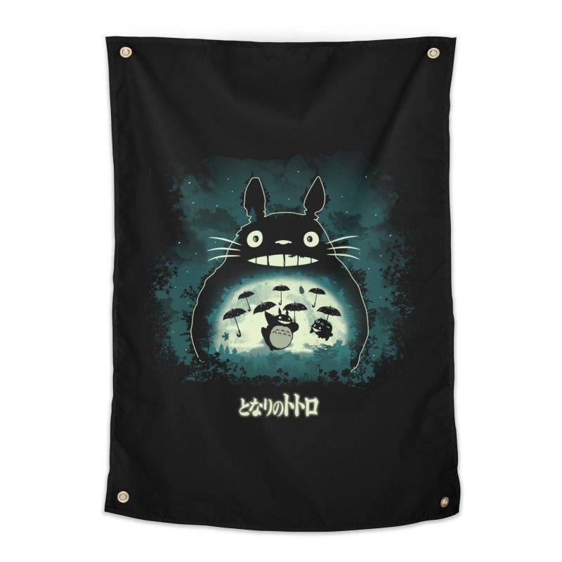 Totoro And His Umbrellas Home Tapestry by Arashi-Yuka