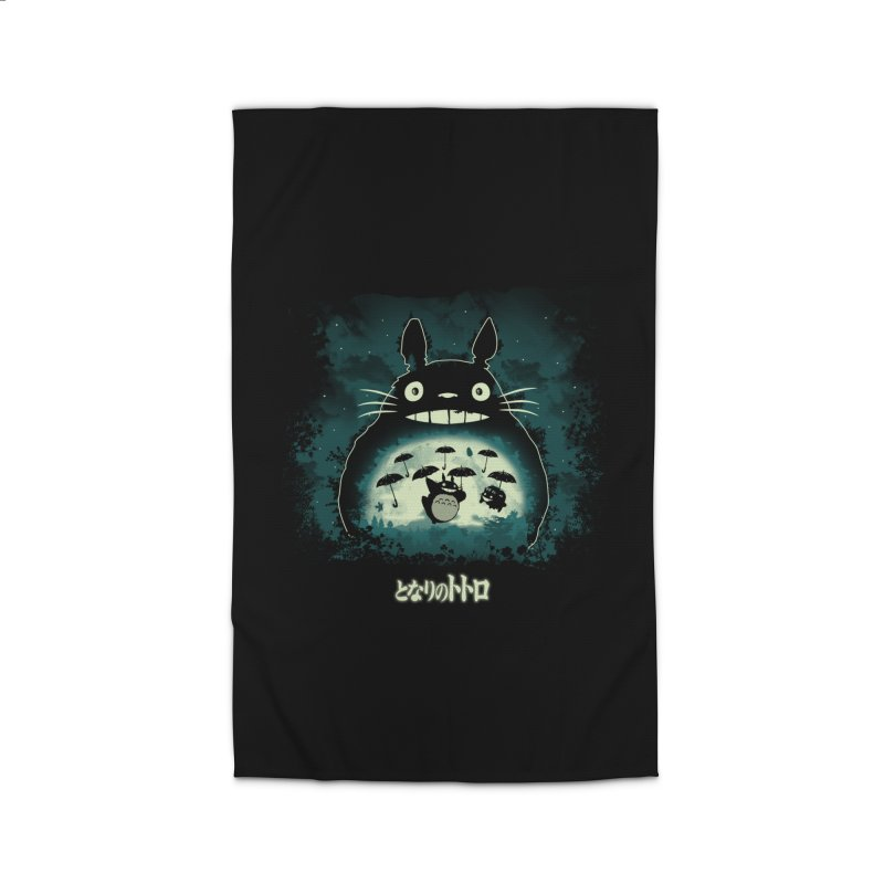 Totoro And His Umbrellas Home Rug by Arashi-Yuka