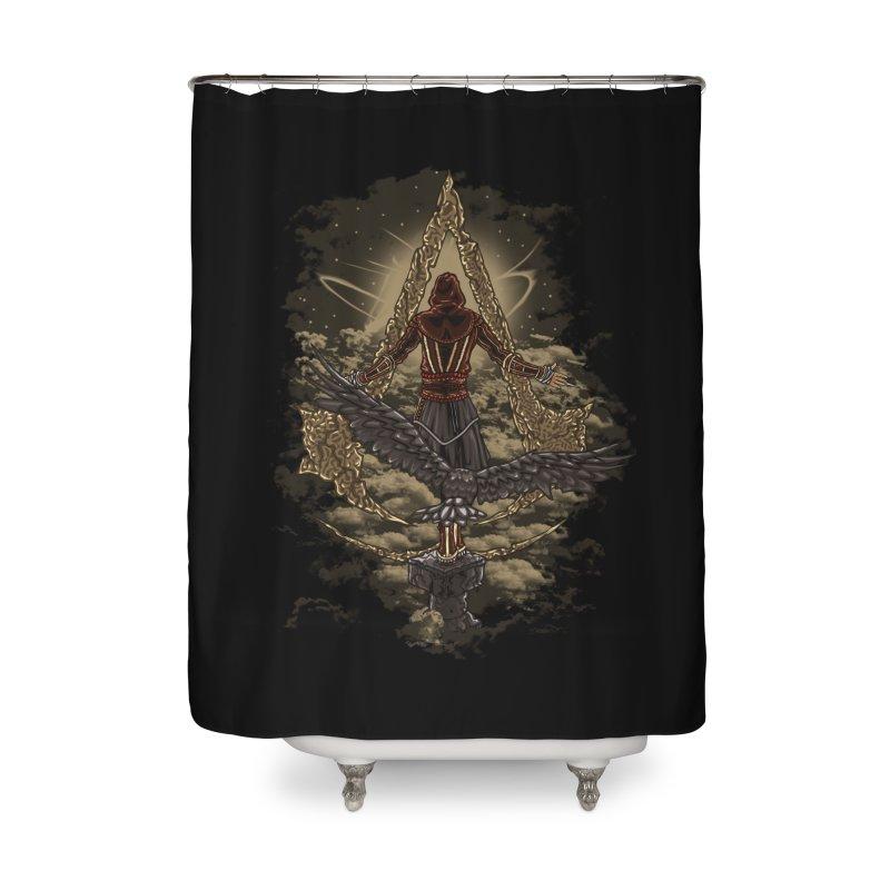 Leap Of Faith Home Shower Curtain by Arashi-Yuka