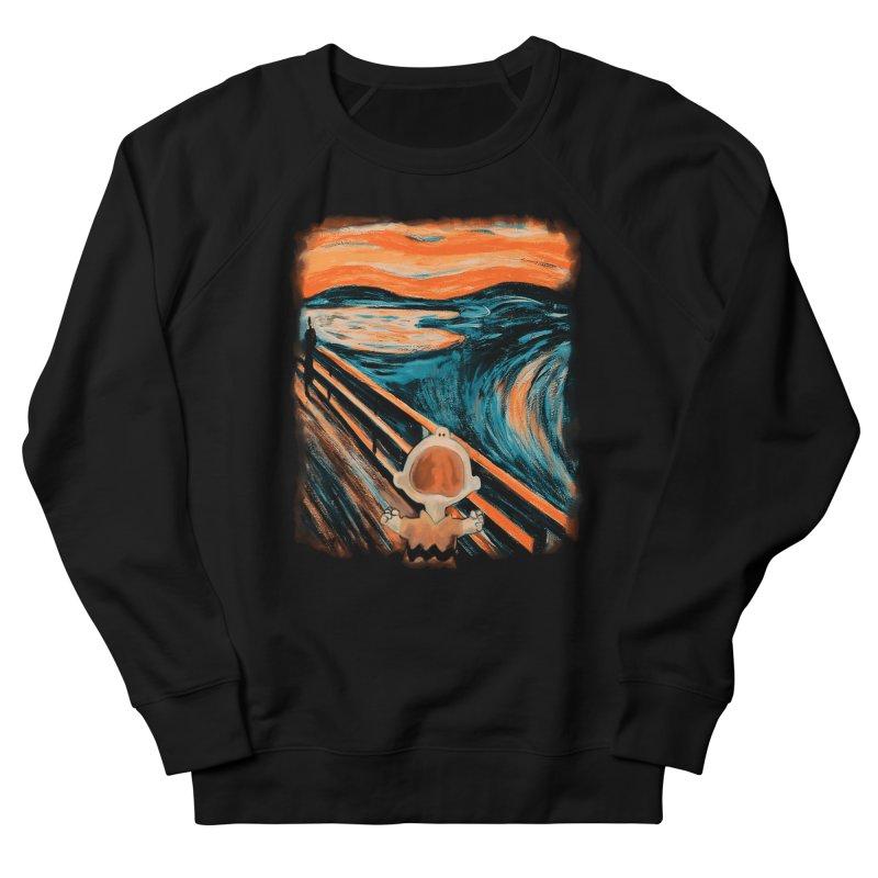 Skrik Men's French Terry Sweatshirt by Arashi-Yuka