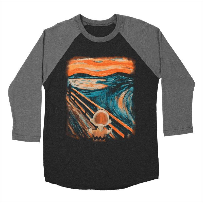 Skrik Men's Baseball Triblend Longsleeve T-Shirt by Arashi-Yuka