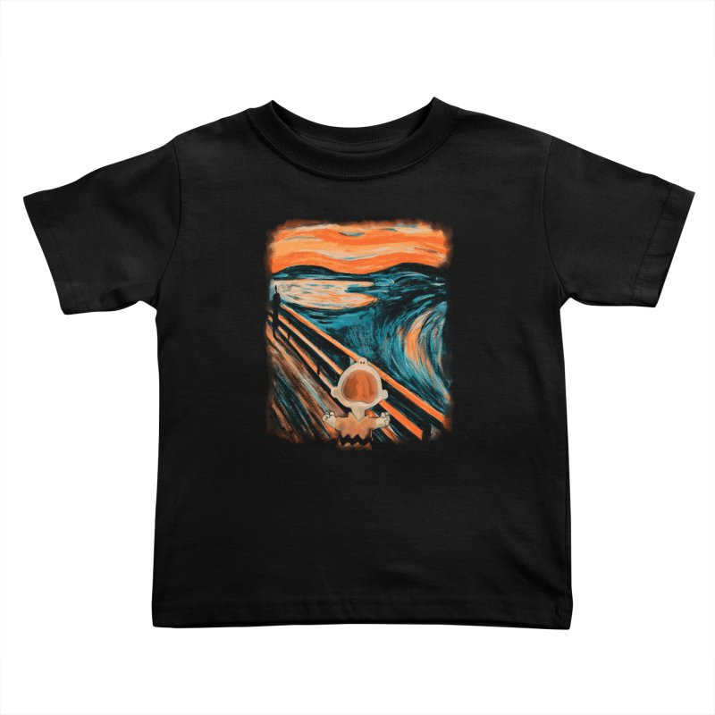 Skrik Kids Toddler T-Shirt by Arashi-Yuka