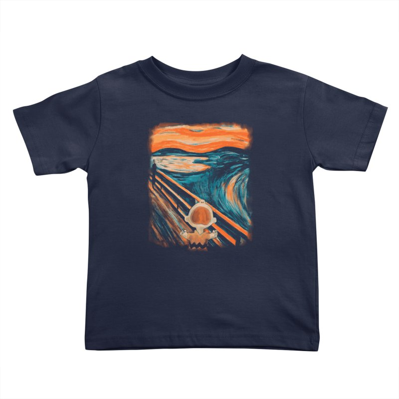 Skrik Kids Toddler T-Shirt by Arashi-Yuka