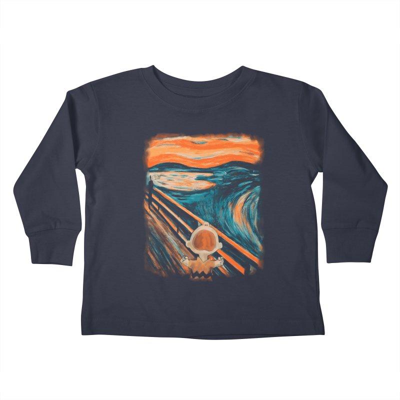 Skrik Kids Toddler Longsleeve T-Shirt by Arashi-Yuka