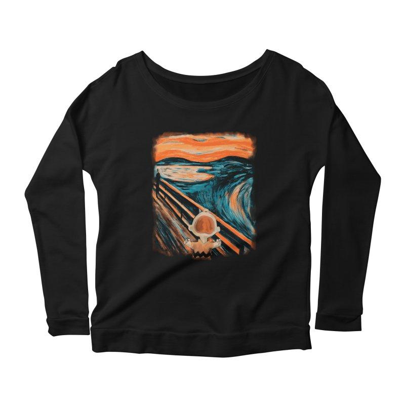 Skrik Women's Scoop Neck Longsleeve T-Shirt by Arashi-Yuka