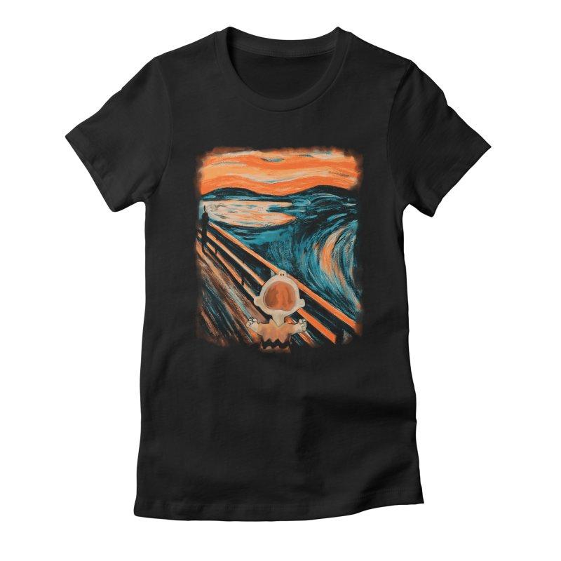 Skrik Women's Fitted T-Shirt by Arashi-Yuka