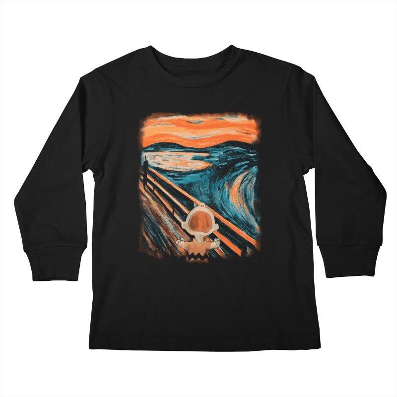 Skrik Kids Longsleeve T-Shirt by Arashi-Yuka