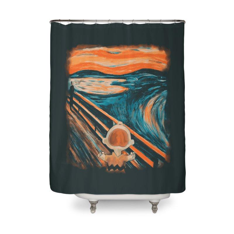 Skrik Home Shower Curtain by Arashi-Yuka