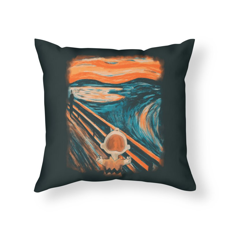 Skrik Home Throw Pillow by Arashi-Yuka