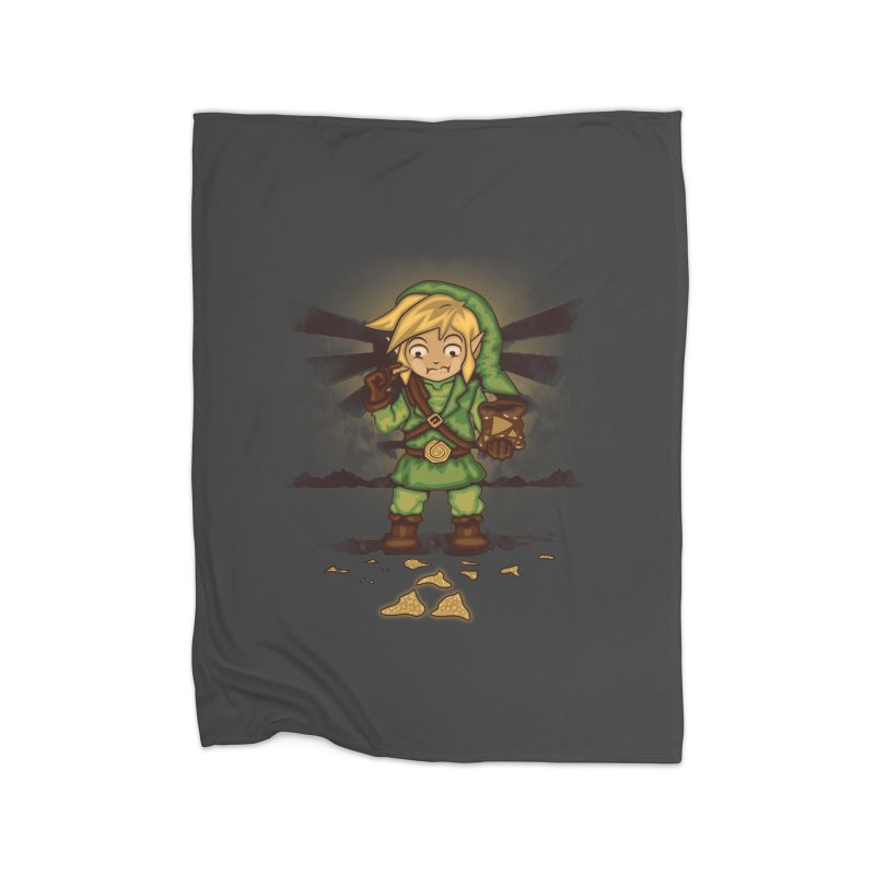 Finding Triforce´s Fragments Home Fleece Blanket Blanket by Arashi-Yuka