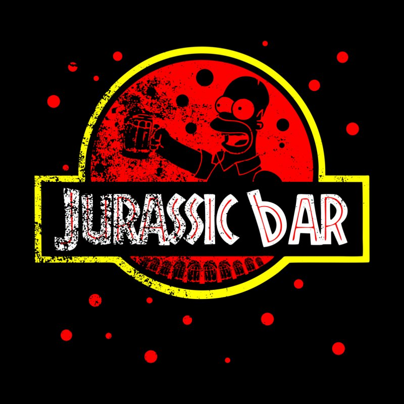 Jurassic Bar Home Fine Art Print by Arashi-Yuka