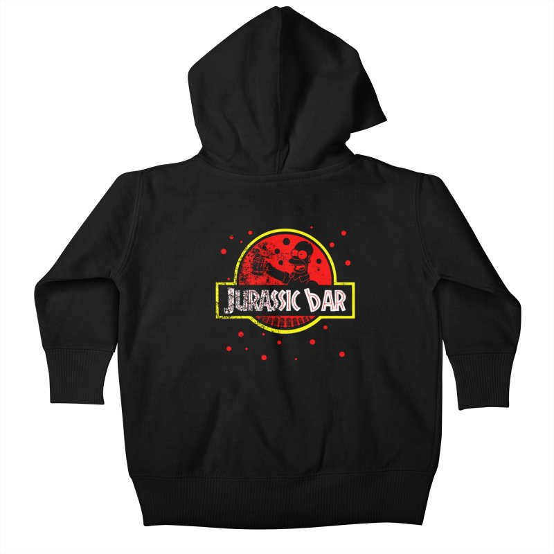 Jurassic Bar Kids Baby Zip-Up Hoody by Arashi-Yuka