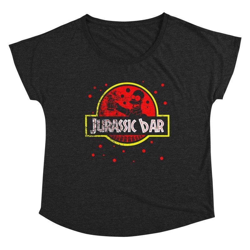 Jurassic Bar Women's Scoop Neck by Arashi-Yuka