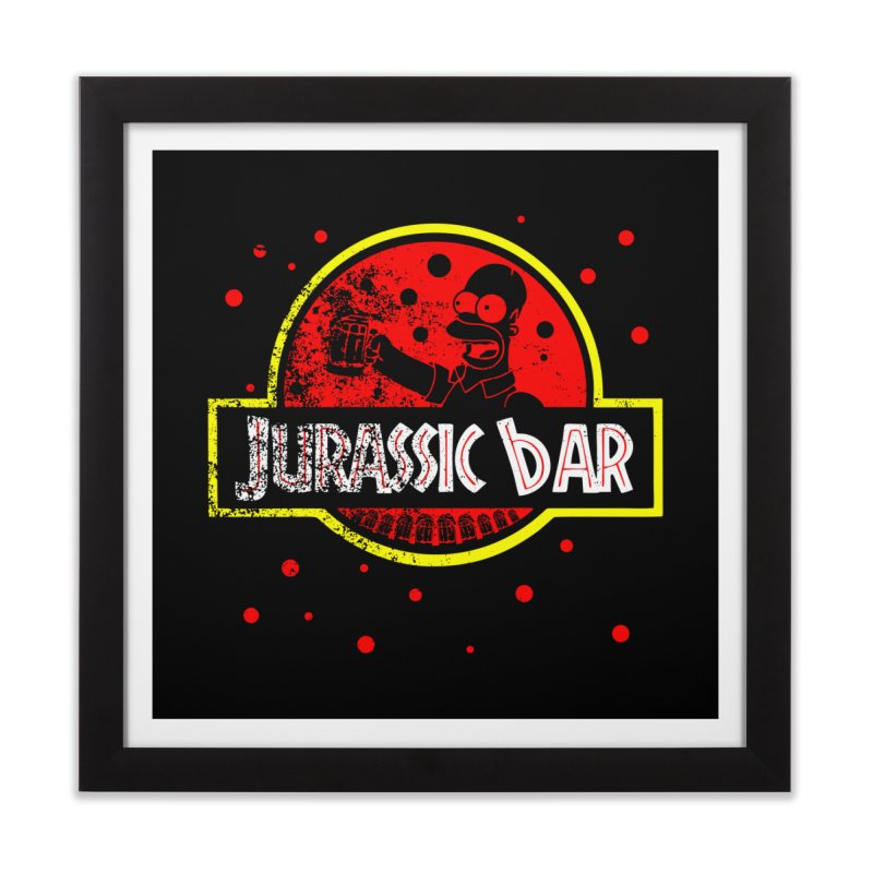 Jurassic Bar Home Framed Fine Art Print by Arashi-Yuka