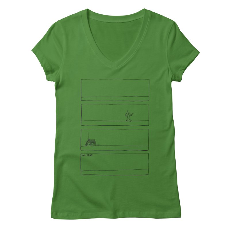 Eelman Chronicles - The Fens Women's V-Neck by EelmanChronicles's Artist Shop