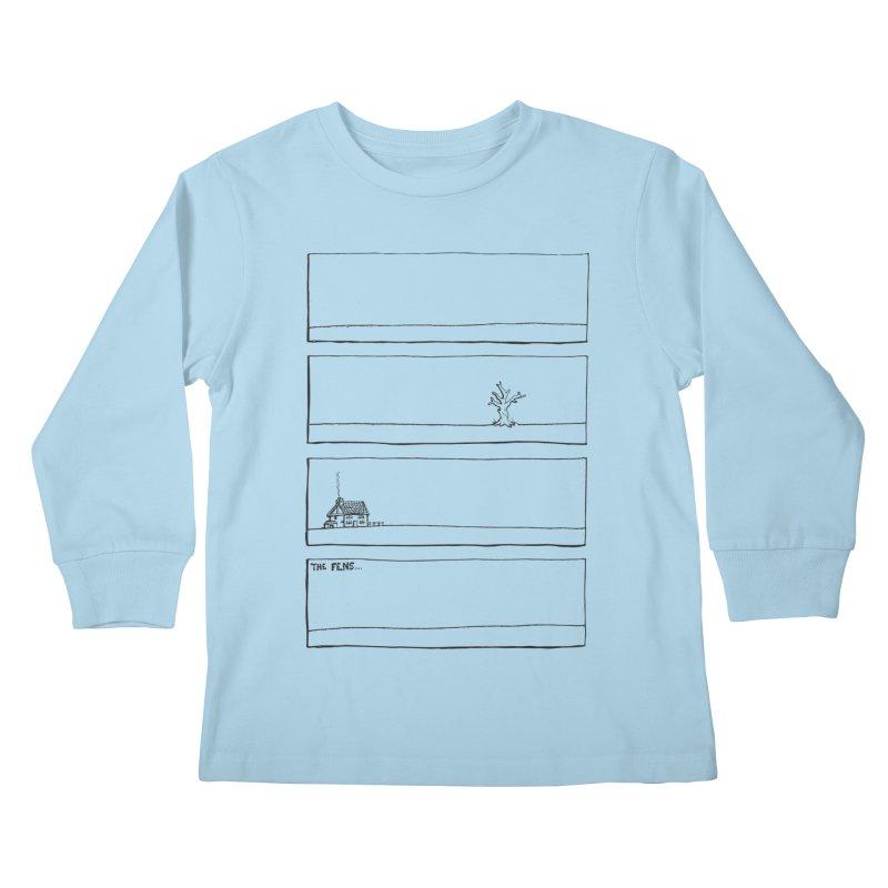 Eelman Chronicles - The Fens Kids Longsleeve T-Shirt by EelmanChronicles's Artist Shop
