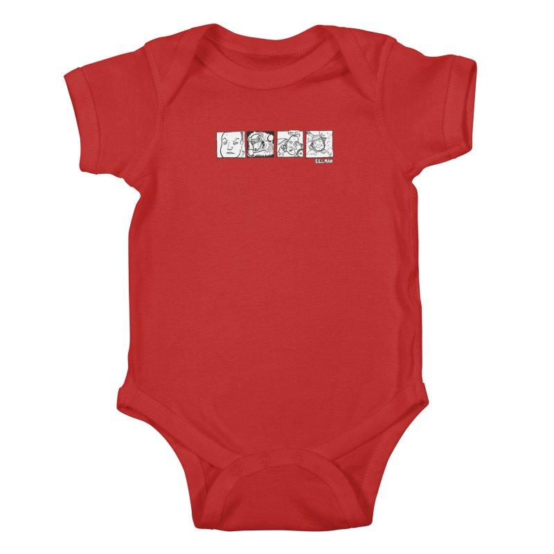Eelman Chronicles - Character lineup Kids Baby Bodysuit by EelmanChronicles's Artist Shop
