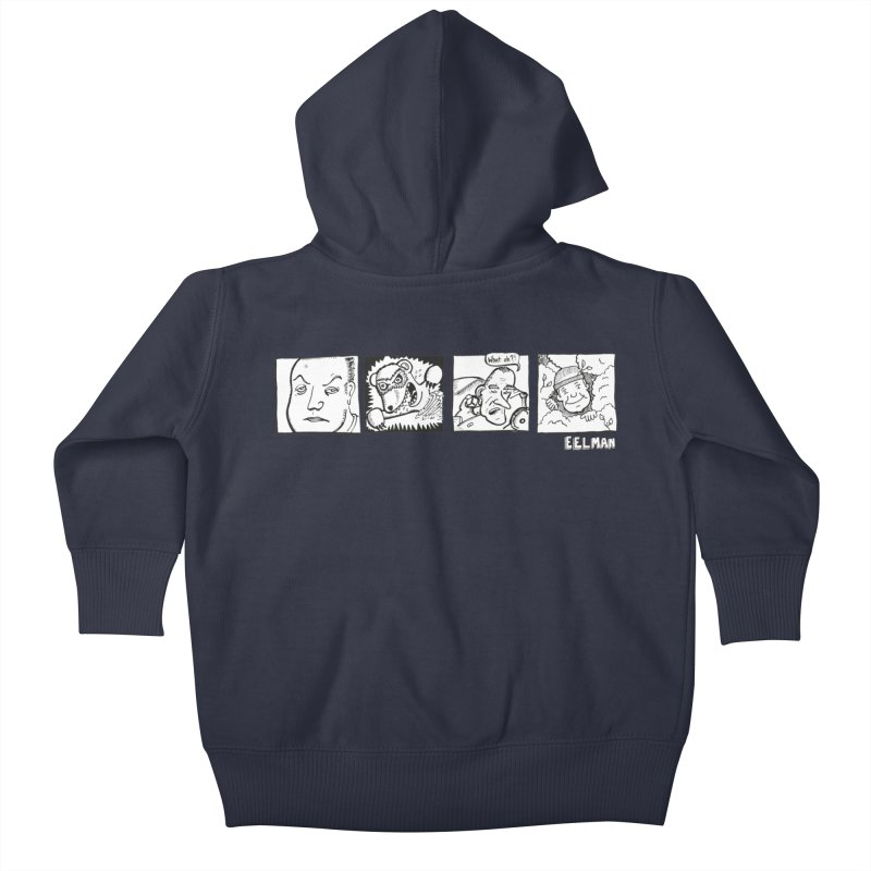 Eelman Chronicles - Character lineup Kids Baby Zip-Up Hoody by EelmanChronicles's Artist Shop