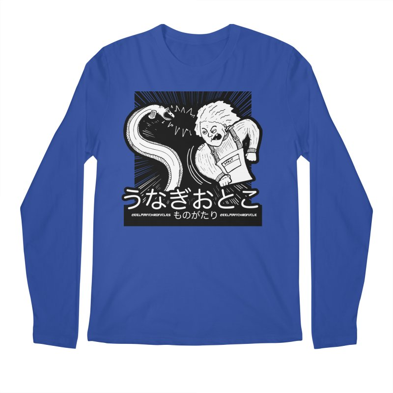 Official EELMANGA UNAGI design Men's Longsleeve T-Shirt by EelmanChronicles's Artist Shop