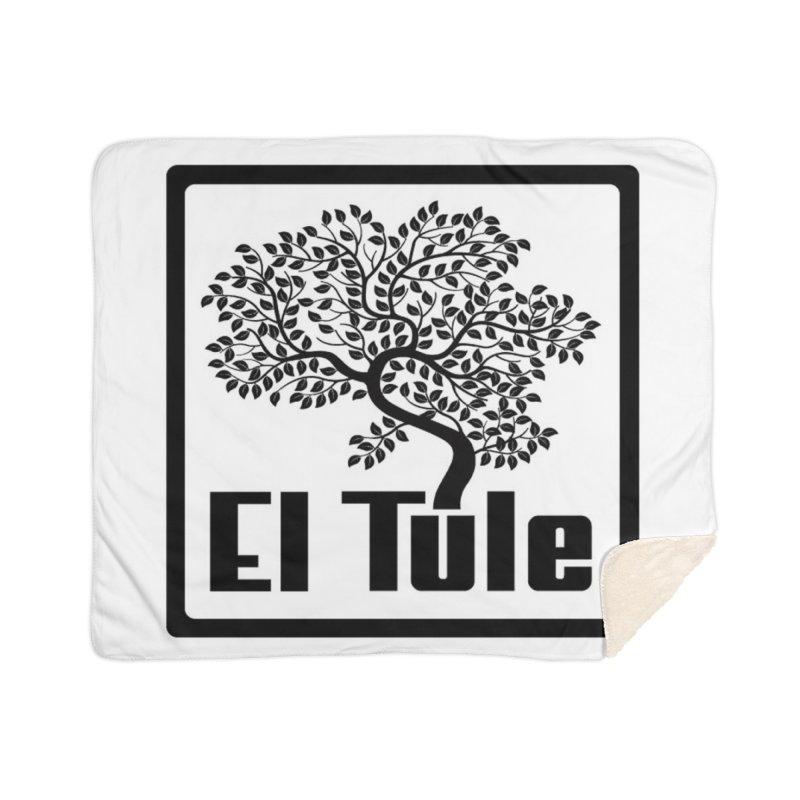 El Tule Logo T Shirt Home Sherpa Blanket Blanket by El Tule Store