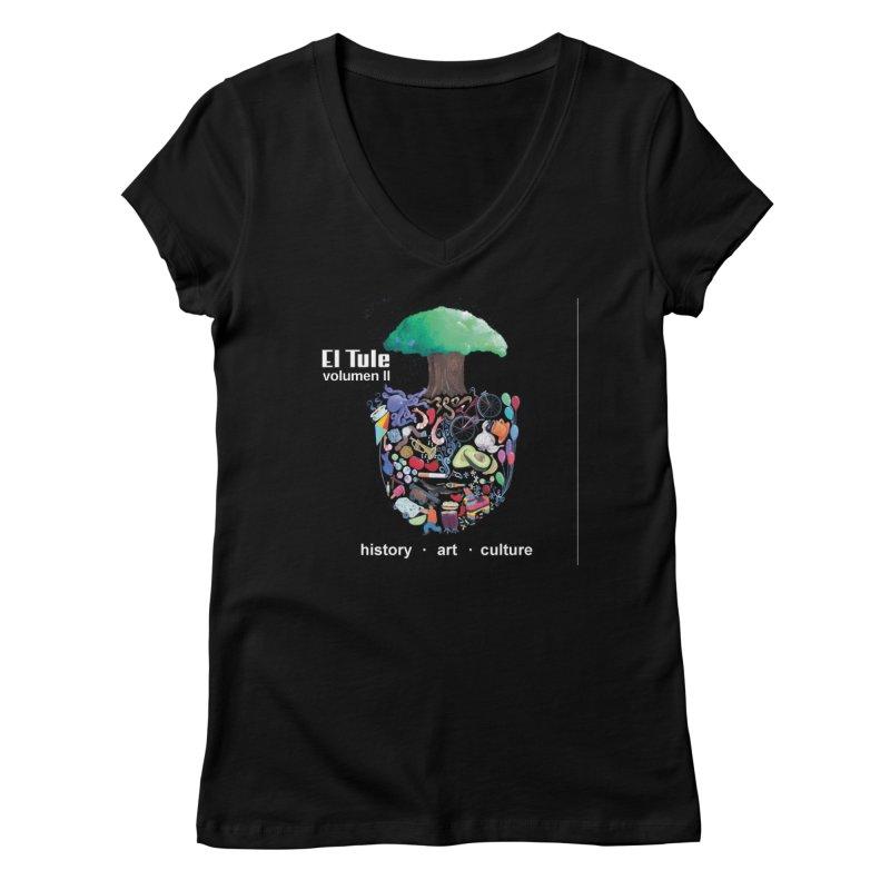 """El Tule """"Volumen II"""" Album Cover Women's V-Neck by El Tule Store"""