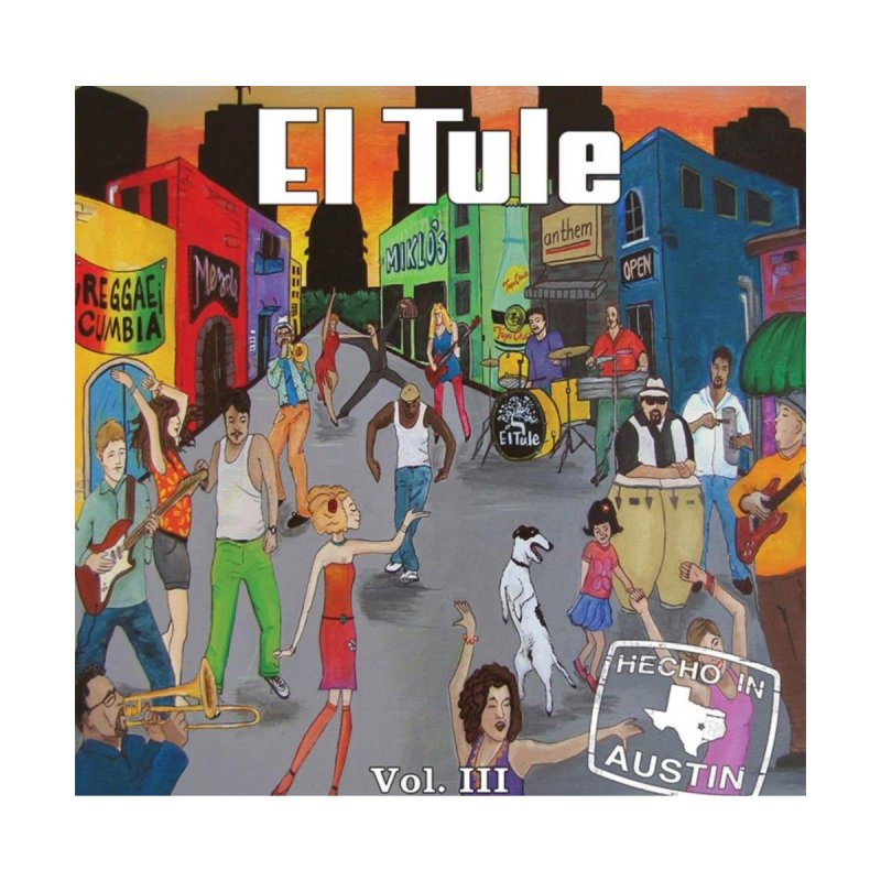 "El Tule ""Hecho In Austin Vol III"" Album Cover Women's V-Neck by El Tule Store"