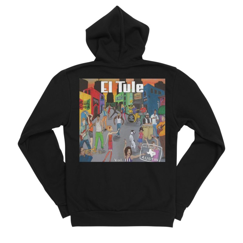 "El Tule ""Hecho In Austin Vol III"" Album Cover Women's Sponge Fleece Zip-Up Hoody by El Tule Store"