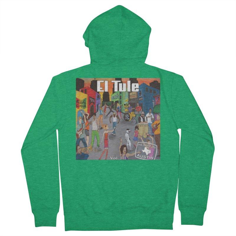 """El Tule """"Hecho In Austin Vol III"""" Album Cover Women's Zip-Up Hoody by El Tule Store"""