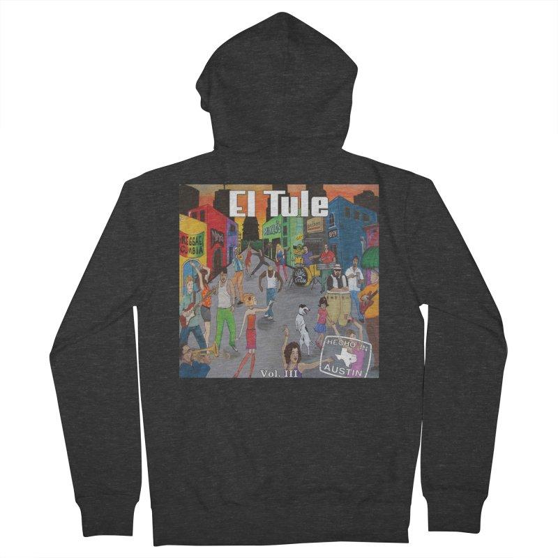 """El Tule """"Hecho In Austin Vol III"""" Album Cover Women's French Terry Zip-Up Hoody by El Tule Store"""
